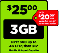 Simple Mobile SIM Card pre paid with $25 plan - text/talk/3GB