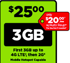 Preloaded Simple Mobile SIM Card  with $25 plan - text/talk/3GB