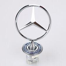 3D Mercedes Benz Logo Zinc Alloy Car Frond Hood Ornament Emblem for C E S Series