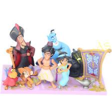8 Pcs Cartoon Movie Aladdin and the magic lamp Cute PVC Cake Topper Toy New Box
