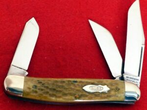 W R Case & Sons 1997 classic mint in box bone big 6340 stockman knife ld