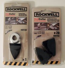 ROCKWELL SONICRAFTER SANDING FINGER & 20PC SANDING SHEETS 220 GRIT RW9148 RW9154