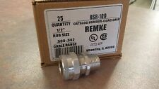 "Remke Rsr-109 (lot of 5) Rsr109 1/2"" .500-.582 Alum Cord Connector"