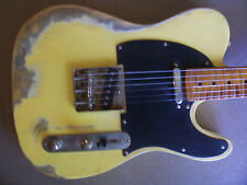 Distressed relic tele style electric guitar--no reserve