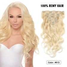 Full Head Long Thick Clip in Human Hair Extensions Remy Body Wave Hair 100g 8pcs