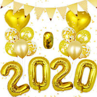 2020 Happy New Year Gold Silver Foil Balloons Eve Party Decor Christmas Xmas UK
