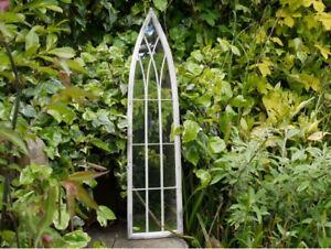 Gothic Metal Arched Medieval Rustic Mirror  Garden Mirror