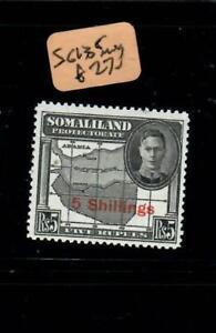 SOMALILAND   (PP2108BB)  KGVI  5/-/5R   SG 135   MOG