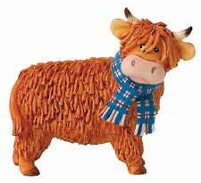 Hamish Hairy Coos Border Fine Arts Highland Cow Figurine Ornament 8cm A25668