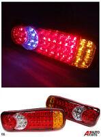PAIR 24V LED REAR TAIL LIGHTS LAMP 5 FUNCTION TRAILER CARAVAN TRUCK LORRY 46 LED