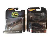 Hot Wheels Batman 1:50 Scale Original TV Series BATMOBILE+BATWING lot of 2