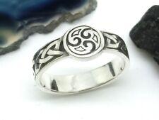 Triskele 925 Sterling Silber Ring Gr. 64 keltischer Knoten Ring Sonnenrad