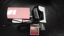 Portable Electric Nail Drill File Rechargeable Cordless Manicure Machine PINK