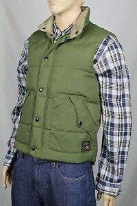 Ralph Lauren Small S Olive Green Down Vest Coat Puffer NWT
