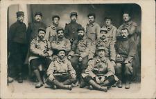 France, Photo de groupe du 102e régiment d'infanterie, ca.1915, vintage sil