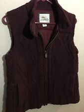 Bob Timberlake Womens Medium Knit Insulated Sweater Vest Jacket Maroon