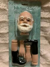 New 1995 Syndee's Crafts Jolly Santa Claus Doll Kit Parts Christmas Holidays