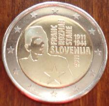 2 euro SLOVENIA 2011 FRANC ROZMAN - SLOVENIE SLOVENIJE FDC UNC COMMEMORATIVE
