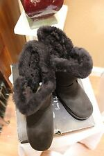 Bearpaw  Dk. Brown,1717W/Chocolate  Suede Leather Buckles, Boots, Womens 7
