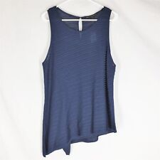 NWT White House Black Market Double Layer Tank Admiral Blue Size L NEW WITH TAGS