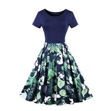 Retro Vintage Rose Floral 50s 60s Swing Housewife Pinup Dress Rockabilly Party