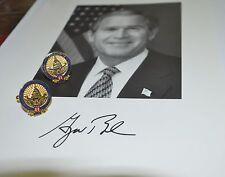 GEORGE W. BUSH 2005 GOLD-PLATED INAUGURAL CUFFLINKS~GIFT BOXED