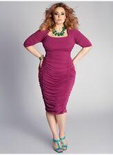 Igigi Dress Plus Size 2X 18 20 Pink Ruched Bodycon Renata Style