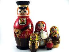 Nesting Dolls Russian Matryoshka Babushka Stacking Wooden Toy New set 5 pcs 7in
