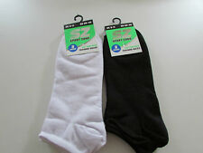 Mens Training Socks 2 packs of 3 size 6-11 White + Black (022)