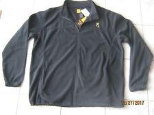 New Browning Mens Full Zip Fleece Jacket Coat XXL 2XL Black Embroidered Buckmark