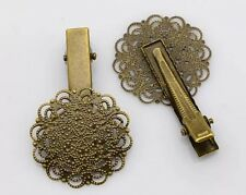 Hair Clip (crocodile pincer) Vintage Style, Brass Colour
