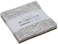 "Metropolis Moda Charm Pack 42 100% Cotton 5"" Precut Fabric Quilt Squares"