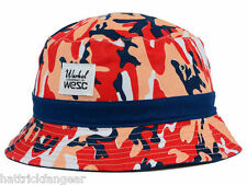 WeSC Men/'s Burnt Olive Camo Logo Snapback Hat