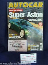 AUTOCAR Magazine 18th April 2001 Super Aston (+Ticket)
