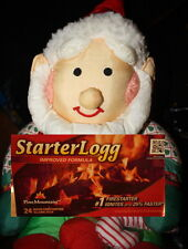 STARTER-LOGG LOG Flame 40 WOOD Firestarters PINE MOUNTAIN 10 x 4pk Dura