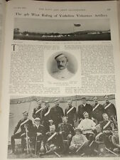 1903 4TH WEST RIDING YORKSHIRE VOLUNTEER ARTILLERY COL.ALLEN NAMED OFFICERS ETC