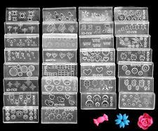 6 pcs DIY Nail art Tips 3D UV GEL Acrylic Powder Silicon Mould Set Design UK