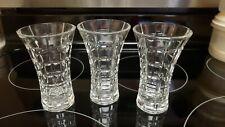 Set of 3 Mikasa Crystal Monarchy Window Pane Flower Vase 4 3/4 tall mini wedding