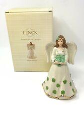 Lenox Irish Angel Figurine #814177 Shamrocks St Patrick's Day Nib