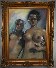 Beautiful nude pastels drawing signed by Fried Pal