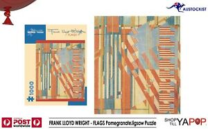 FRANK LLOYD WRIGHT - FLAGS PomegranateJigsaw Puzzle 1000 Piece  51x63cm BNIB