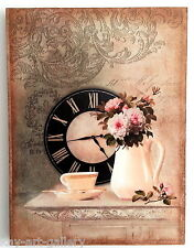 Wall Picture Plaque , Vintage Retro style Handmade   Dinning Room  Decoupage