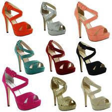 Unbranded Stiletto Party Peep Toe Heels for Women