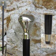 Wanderstock Spazierstock Gehstock Larp Steampunk Flanierstock Elegant Silber