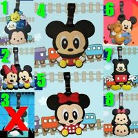Cute Mickey Mouse & Minnie Mouse Silicone PVC Cartoon Travel Luggage Tag School