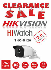 HIKVISION HIWATCH BULLET CAMERA  THC-B120 2MP 1080P IP66 HDTVI IN/OUTDOOR BNC UK