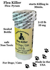 100 Capsules Flea Killer for Dogs and Cats 2-15 Lbs. 10 Mg Control Quick Results