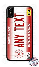 Wisconsin Firefighter Design Text Phone Case Cover For iPhone Samsung LG Google
