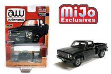 AUTO WORLD MIJO EXCLUSIVES BLACK 1973 CHEVY CHEYENNE STEPSIDE PICKUP TRUCK