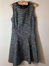 Sale Black Faux Leather Houndstooth Check Skirt Mod 60s Empire 26 mv Dress S M L